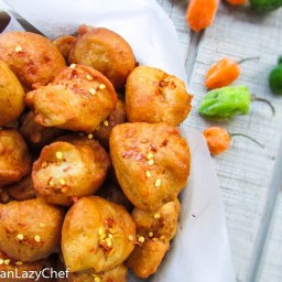 Spicy Shrimp and Garlic Bean Fritters (Akara With A Twist)