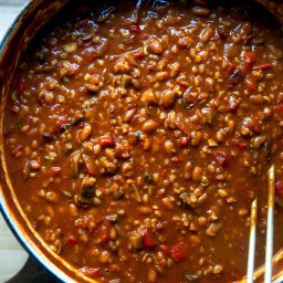 Spicy, Smoky, Stovetop Vegetarian Chili