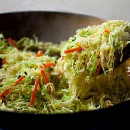 Spicy Stir-Fried Cabbage