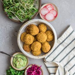 Spicy sweet potato falafel