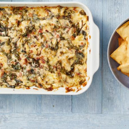 Spicy Swiss Chard and Artichoke Dip