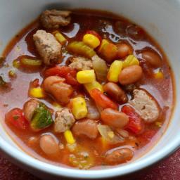 Spicy Taco Turkey Soup