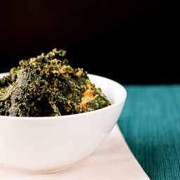 Spicy Tahini Kale Chips