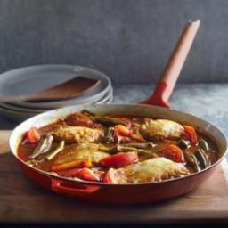 Spicy Tamarind Stewed Fish and Okra