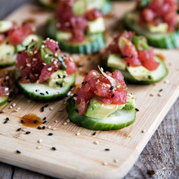 Spicy Tuna & Cucumber Bites