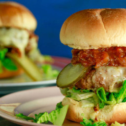 Spicy Turkey Burgers with Barbecued Onions