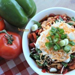 Spicy Vegetarian Chili - perfect for game day!