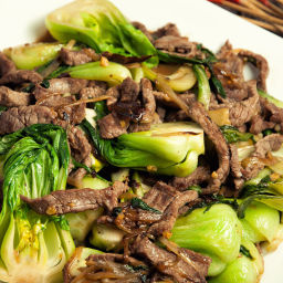 Spicy Beef And Bok Choy Recipe