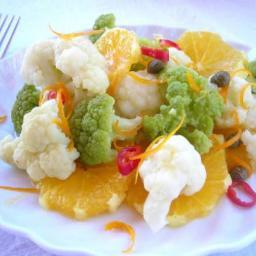 Spicy Cauliflower Citrus Salad Pressure Cooker Recipe