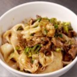 """Spicy Cumin Lamb """"Long Life"""" Noodles"""