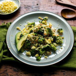 Spicy Quinoa Salad With Broccoli, Cilantro and Lime