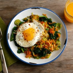 Spicy Sweet Potato and Vegetable Hash
