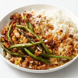 Spicy Turkey and Green Bean Stir-Fry