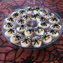 Spider Deviled Eggs