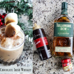 Spiked Hot Chocolate Irish Whiskey