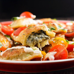 Spinach and Artichoke Dip-Filled Pierogi Recipe