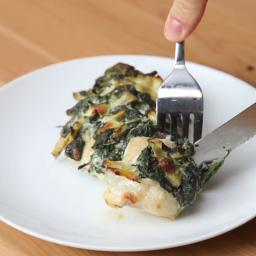 Spinach And Artichoke Dip Hasselback Chicken Recipe by Tasty