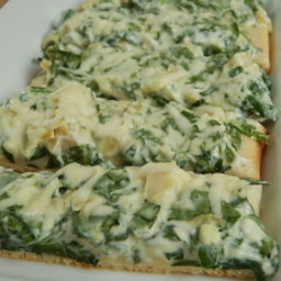 Spinach and artichoke pizza fingers