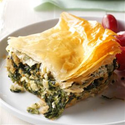 Spinach and Chicken Phyllo Pie Recipe