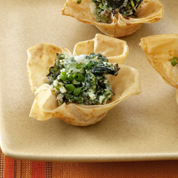 Spinach and Goat Cheese Tartlets