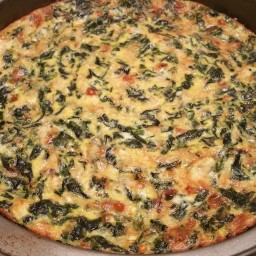 Spinach and Gruyere Fritatta