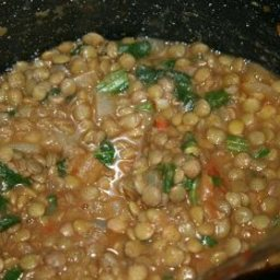 Spinach and Lentil Soup