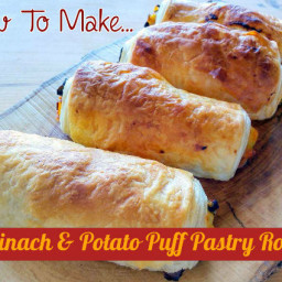 Spinach And Potato Puff Pastry Rolls