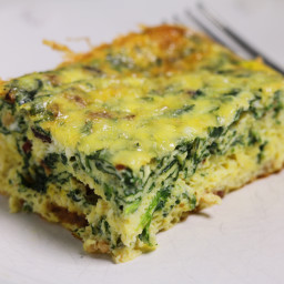 Spinach and Ricotta Egg Bake