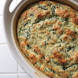 Spinach and White Cheddar Souffle