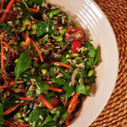 Spinach and Wild Rice Salad