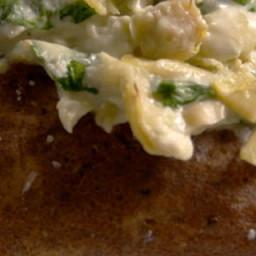 Spinach-Artichoke Baked Potatoes