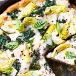 Spinach-Artichoke Deep-Dish Pizza