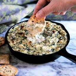 Spinach Artichoke Dip (Vegan; Gluten-Free)