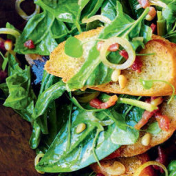 Spinach, Bacon, and Pine Nut Salad
