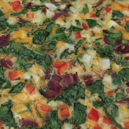 Spinach Bacon Egg Casserole