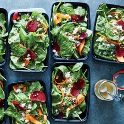 Spinach, Beet, and Lentil Salad