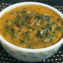 Spinach Curry with Coconut Milk