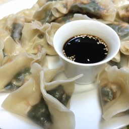 Spinach Dumplings with Dipping Sauce