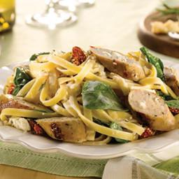 Spinach & Feta Chicken Sausage Fettuccini Alfredo