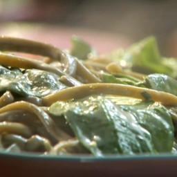 Spinach Fettuccini with Gorgonzola Cream Sauce