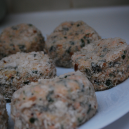 Spinach Fish Cakes