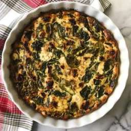 Spinach, Goat Cheese and Sun-Dried Tomato Crustless Quiche