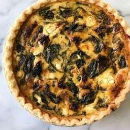 Spinach, Goat Cheese and Sun-Dried Tomato Quiche