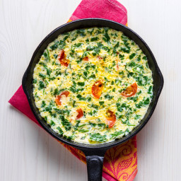 Spinach, Grape Tomato & Cheddar Frittata
