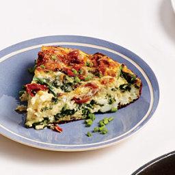 Spinach, Ham, and Gruyère Frittata