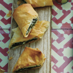 Spinach, Herb, and Cheese Phyllo Rolls