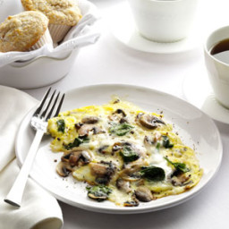 Spinach-Mushroom Scrambled Eggs Recipe