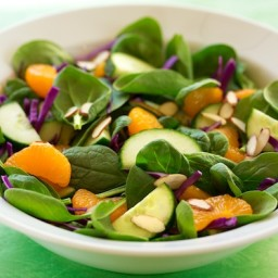 Spinach, Orange, and Red Cabbage Salad
