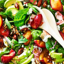 Spinach Salad with Grilled Plums and Avocado