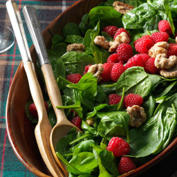 Spinach Salad with Raspberries and Candied Walnuts Recipe